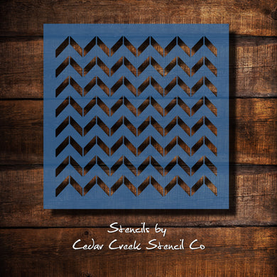 chevron pattern reusable stencil