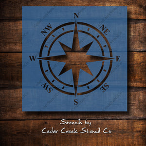 Nautical Compass craft stencil