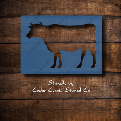 Cow stencil, Reusable craft stencil, Farmhouse stencil, Kitchen Stencil, washable stencil, Primitive stencil