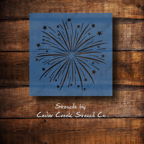 Fireworks - 4th of July - Reusable Craft Stencil