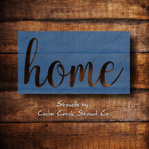 Home word stencil, reusable word stencil, sign making stencil, craft stencil, pillow stencil, diy home decor stencil, farmhouse stencil