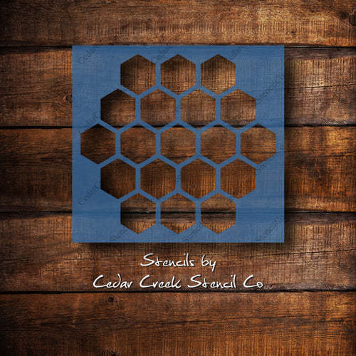 Honeycomb stencil, reusable craft stencil for sign making, Washable Stencil, Fabric Stencil, Honey stencil