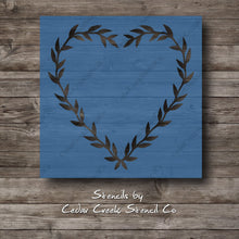 Load image into Gallery viewer, valentines Heart Wreath Stencil, Love Wreath Stencil, Valentines day stencil, Stencil For Sign Making, Reusable stencils, Heart Stencil - Cedar Creek Stencil Co.