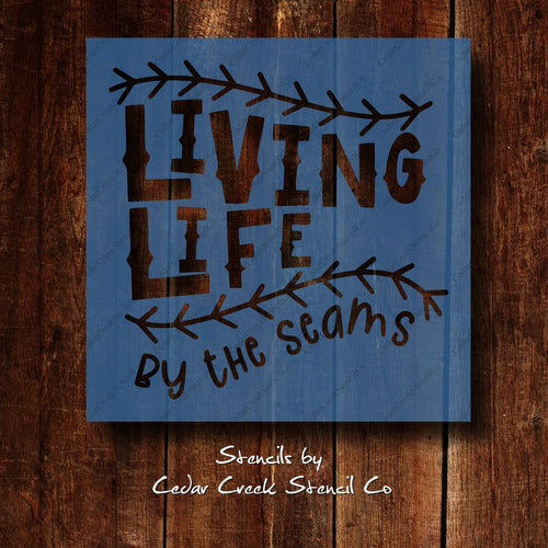 living life by the seams softball baseball reusable craft stencil
