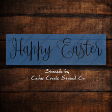 Load image into Gallery viewer, Happy Easter Stencil, reusable Easter stencil, Kids craft project stencil, Spring Stencil, craft stencil - Cedar Creek Stencil Co.