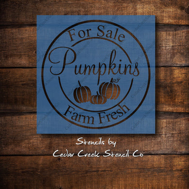 Pumpkin Stencil, Fall Autumn Craft Stencil, Vintage Style Stencil, Pumpkins for sale Stencil, Farmhouse DIY Sign Stencil, Thanksgiving craft - Cedar Creek Stencil Co.