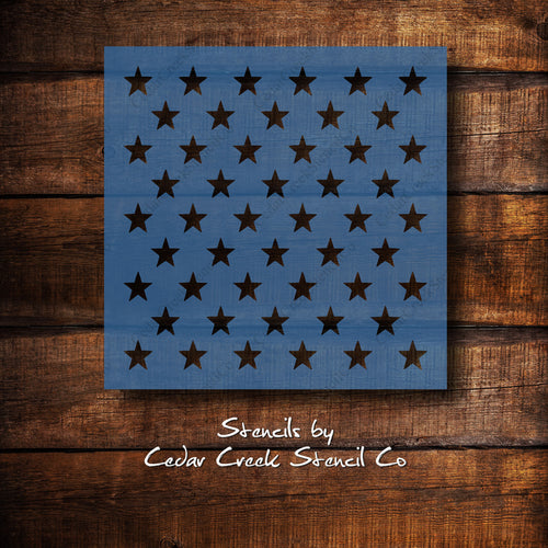 Star pattern Stencil, 50 stars for flag, Patriotic Stencil, 4th of July Stencil, Independence Day Stencil, Craft stencil for sign making - Cedar Creek Stencil Co.
