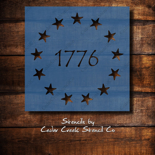 1776 Star Stencil, Betsy Ross Stars stencil, Patriotic Stencil, 4th of July Stencil, Independance Day craft stencil - Cedar Creek Stencil Co.