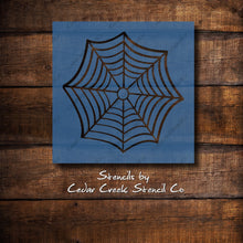 Load image into Gallery viewer, Halloween Stencil, Spiderweb Stencil, Spiders Web Reusable Stencil, Craft Stencil, Paint Stencil, Sign Making Stencil, DIY Halloween decor - Cedar Creek Stencil Co.