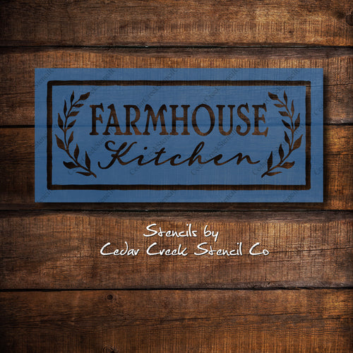 Farmhouse Reusable Stencil, Farmhouse Kitchen DIY Sign making supply, Paint Craft Stecil, Kitchen Decor Stencil, Rustic Primitive Stencil - Cedar Creek Stencil Co.