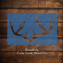 Load image into Gallery viewer, Buck Antlers Stencil, Deer Stencil, Deer Rack, Buck Head Rack, Deer Antler Silhouette Stencil, Reusable Woodland Stencil, Animal Stencil - Cedar Creek Stencil Co.