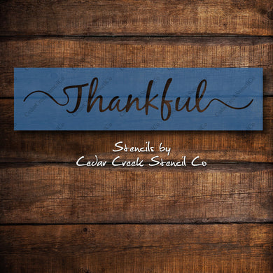 Thankful Stencil, Word Stencil, Reusable Stencil, Washable Stencil, Fall Stencil, Sign Painting Stencil, Craft Stencil, DIY Sign Making - Cedar Creek Stencil Co.