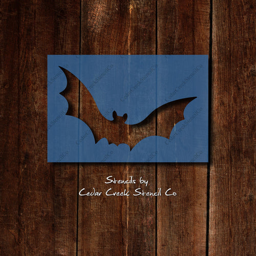 Bat Stencil, Reusable halloween stencil, DIY Halloween Decor, Bat Decor, 7mil blue mylar stencil - Cedar Creek Stencil Co.