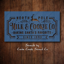 Load image into Gallery viewer, Milk and cookie stencil, Vintage sign stencil, Santa's cookies Reusable  stencil, Craft stencil for sign making, DIY Christmas decor - Cedar Creek Stencil Co.
