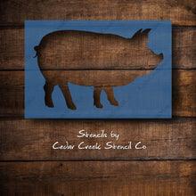Load image into Gallery viewer, Pig stencil, Reusable craft stencil, Farm animal stencil, Farmhouse stencil, Hog stencil, boar stencil, washable stencil
