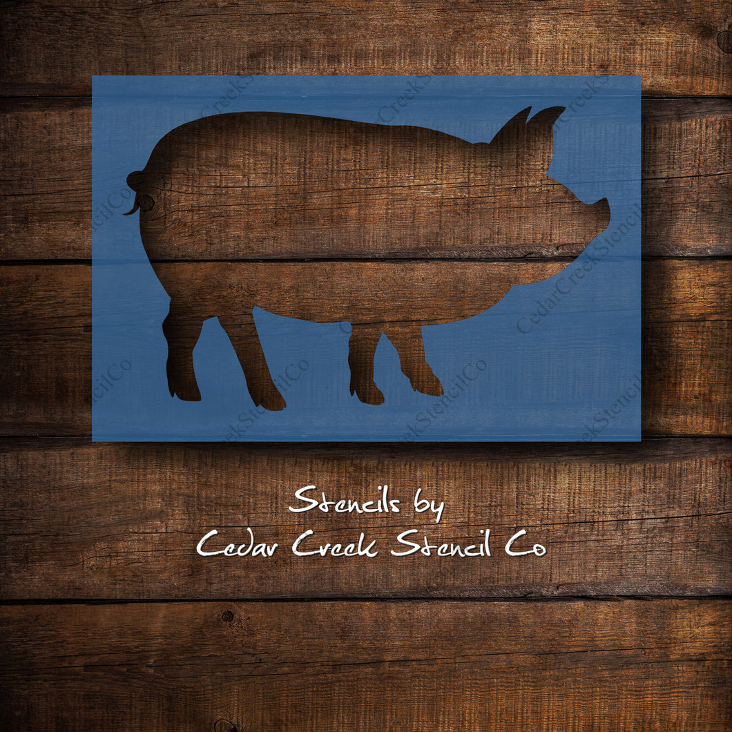 Pig stencil, Reusable craft stencil, Farm animal stencil, Farmhouse stencil, Hog stencil, boar stencil, washable stencil