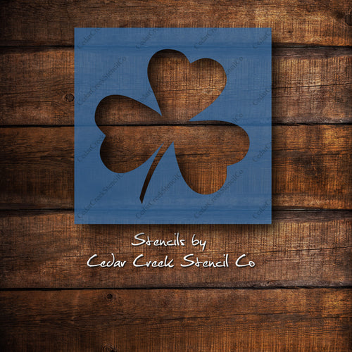 Shamrock Reusable craft stencil for sign making, St Patrick's Day Stencil, Clover stencil, fabric stencil