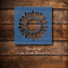 Load image into Gallery viewer, Sunflower reusable stencil
