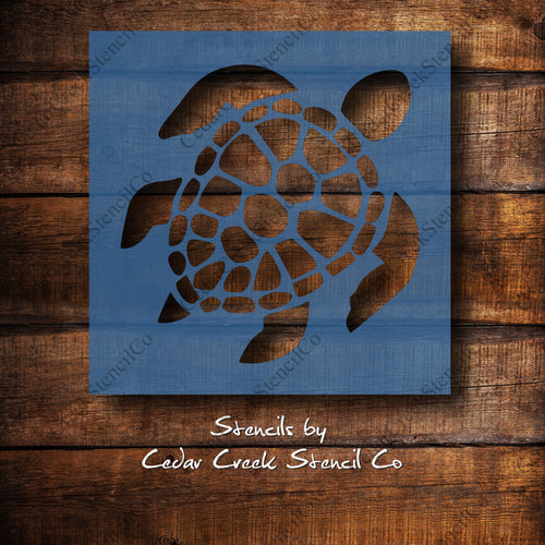 Sea Turtle - Reusable craft stencil