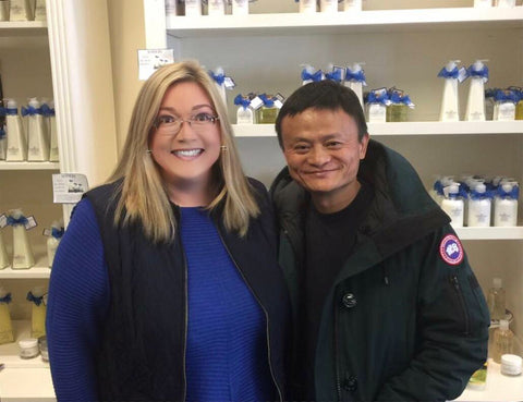 Marcy Miller and Jack Ma