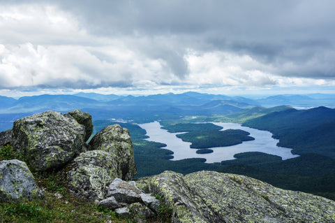 Pure Placid - View of Lake placid from whiteface mountain