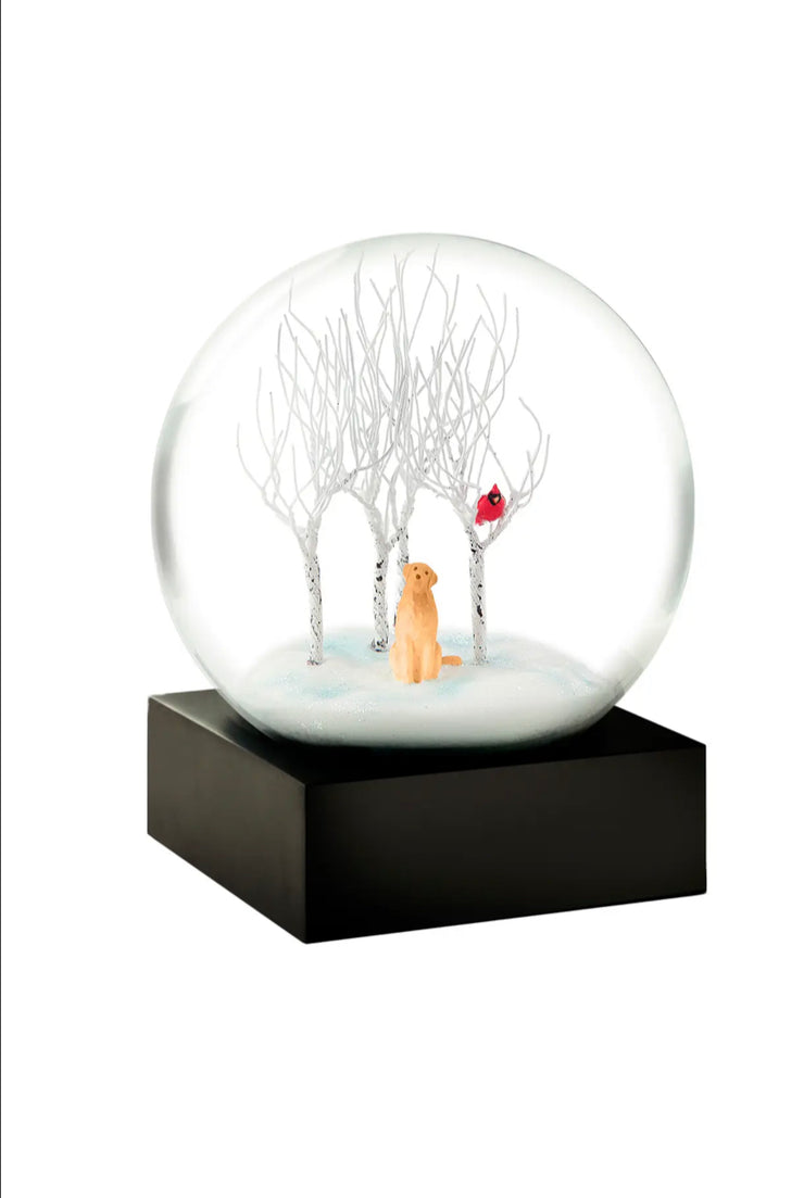 Lab in the Woods Snow Globe - CoolSnowGlobes - Pure Placid