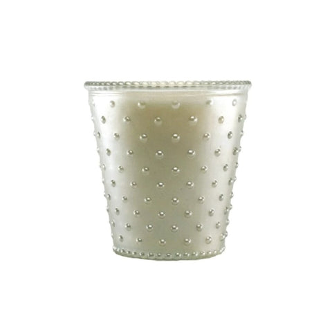 Hobnail Glass Candle - Scented Soy Wax Candle - Pure Placid