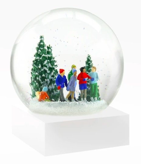 Ice Skaters Snow Globe - Pure Placid