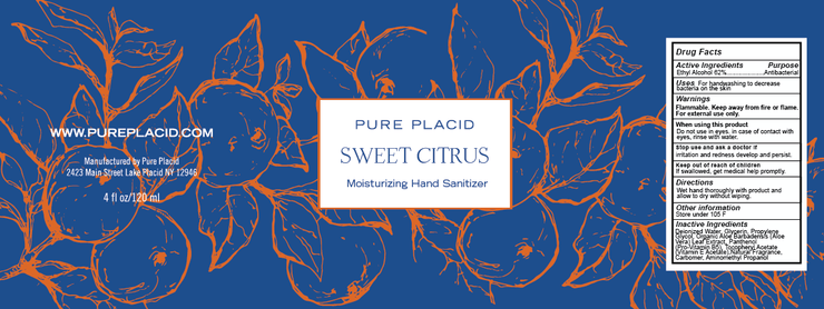 Sweet Citrus Hand Sanitizer - Pure Placid