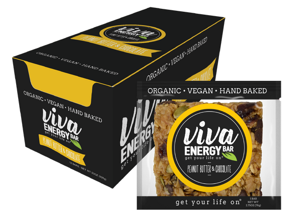 VIVA ENERGY BAR 12 PACK - PEANUT BUTTER & CHOCOLATE