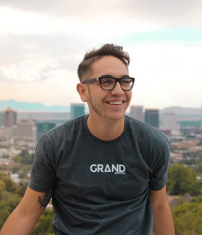 Grey & White Grand T-Shirt | Grand Supply Co.