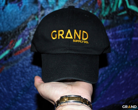 Black & Gold Dad Hat | Grand Supply Co.