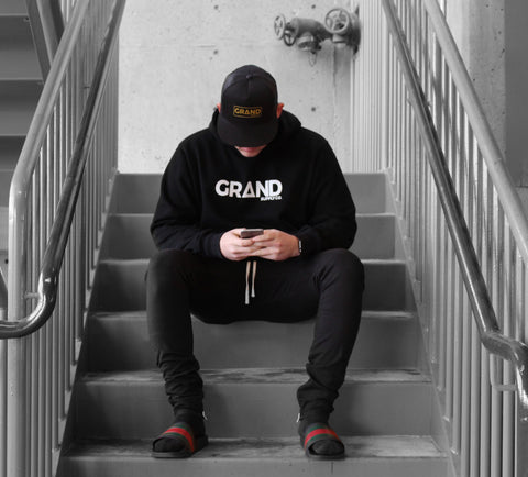 Black & White Grand Hoodie | Grand Supply Co.