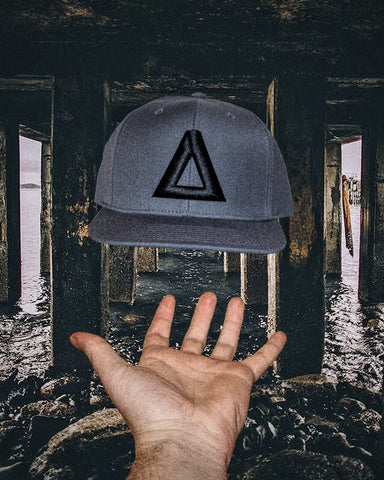 Grey & Black Triangle Snapback