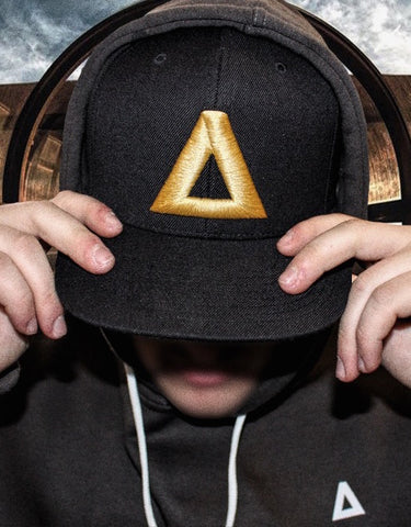 Black & Gold Grand Snapback | Grand Supply Co.