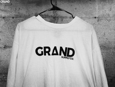 White & Black Sample T-Shirt | Grand Supply Co.