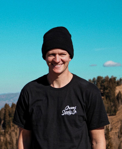 Black Cursive Grand T-Shirt | Grand Supply Co.