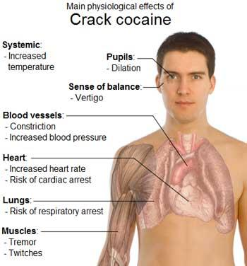 physical side effects of cocaine abuse