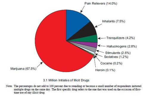 Drug Types Most Abused by Teenagers Pie Chart