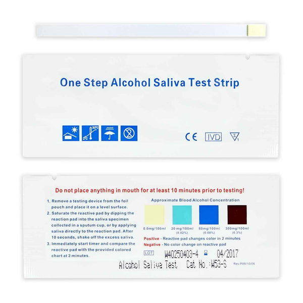 One Step Saliva Alcohol Test Strip