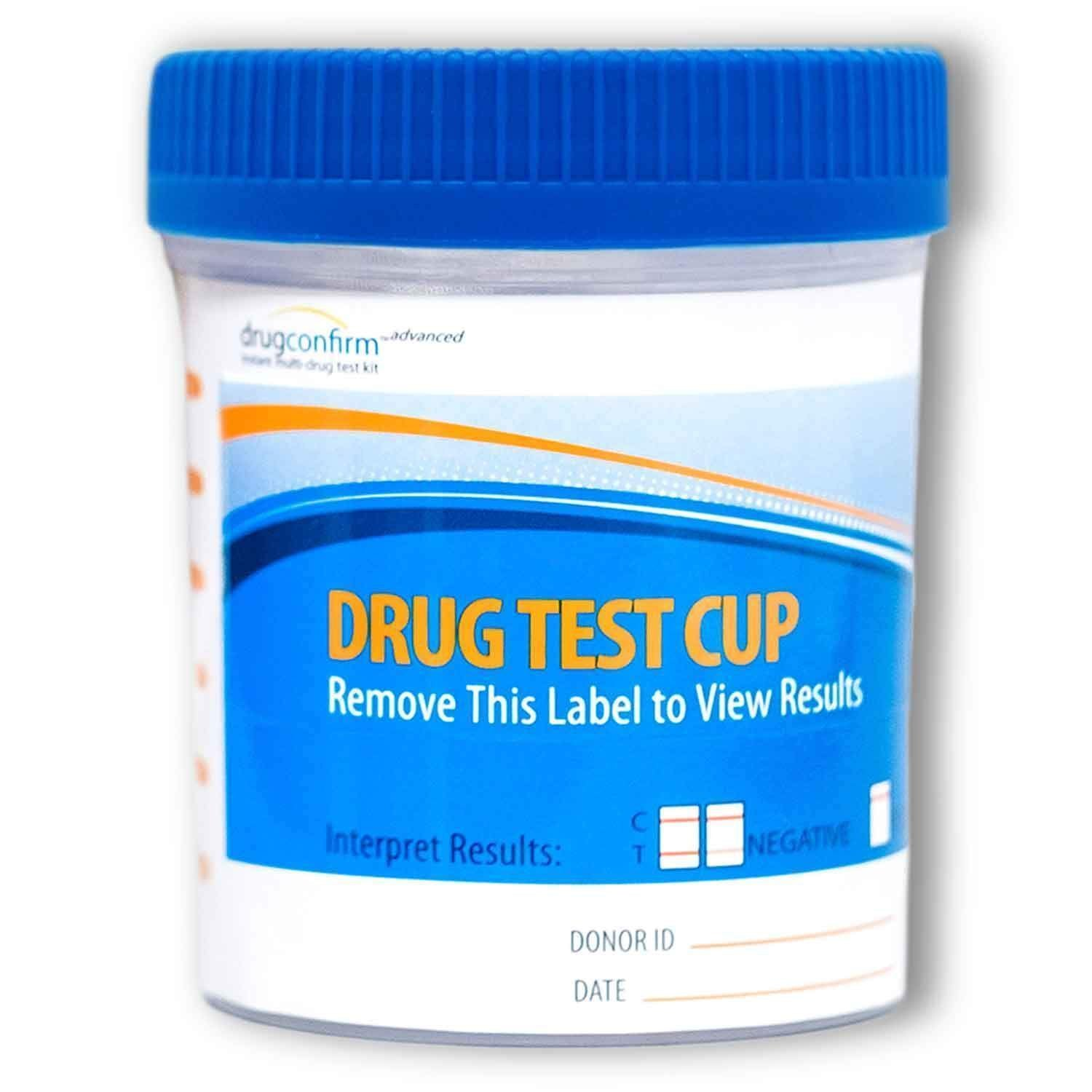 14 Panel DrugConfirm™ Urine Drug Test Cup - 1144 | AMP/BAR/BUP/BZO/COC/mAMP/MDMA/MTD/OPI/OXY/PCP/PPX