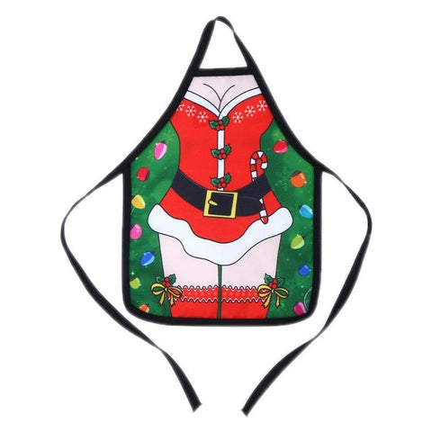 Christmas Apron Bottle Cover - 4 pcs