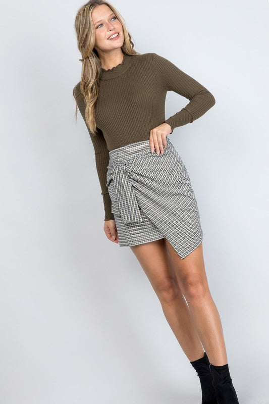 Wrap Knit Skirt - Black