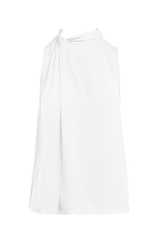 Pleated Top - Off White