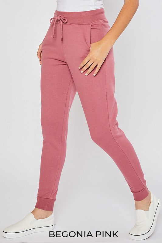 Oversized Relaxed Fit Jogger - Begonia Pink