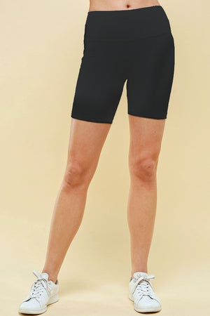 Mid-Length Activewear Jersey Bike Shorts - Black