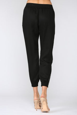 Tencel Jogger Pants  - Black