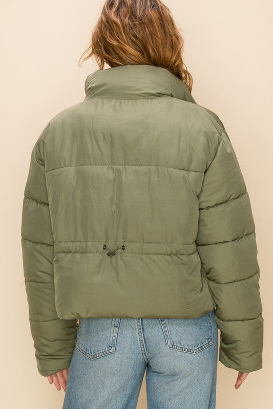 Puffer Jacket - Olive Green
