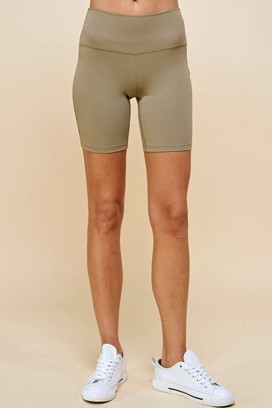 Mid-Length Activewear Jersey Bike Shorts - Sage
