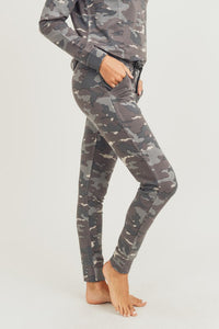 Earth Camo Print Sweatpants